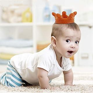 Haakaa 婴儿牙胶 - 2020 新款婴儿出牙玩具 适用于3个月以上的宝宝 纳米银硅胶彩色牙冠形牙胶 不含 BPA 琥珀色