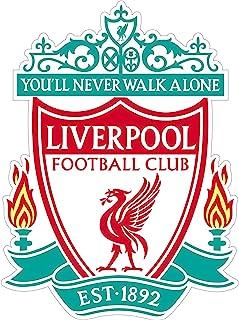 FC 利物浦橄榄球贴纸(任何尺寸)利物浦足球贴花乙烯基球队颜色/您永远不会散步