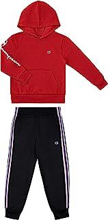 Champion 男童两件套运动抓绒上衣经编针织短裤套装 儿童服装