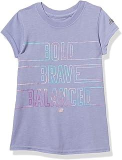 New Balance 女童短袖图案 T 恤