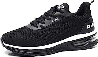 Azooken 男式轻质气垫跑步鞋时尚步行鞋运动鞋女式网球运动鞋