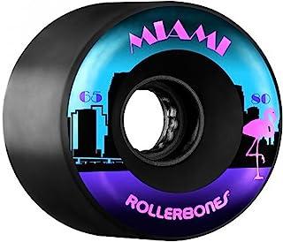 RollerBones 户外迈阿密轮子 65mm 80a 8pk 黑色