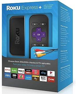Roku Express+ HD 流媒体播放器,包括 HDMI 和复合电缆