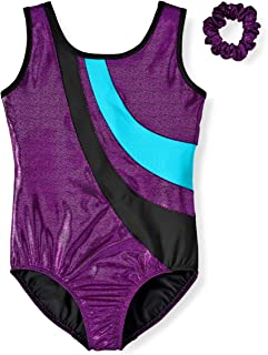 DanskinNow 体操和舞蹈精英紧身衣,背部锁孔,搭配紧身裤(小女孩和大女孩)