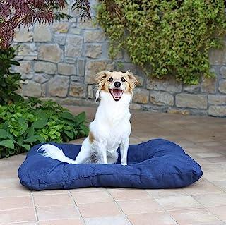 "Sogni e capricci 宠物""Smarty"" 软垫靠垫,适用于狗和猫,深蓝色,54 x 41厘米"