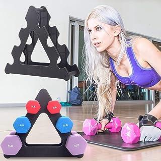 ROLLMOSS 运动哑铃架 仅哑铃架 3 层健身重量架 适用于哑铃的力量训练哑铃架 举重
