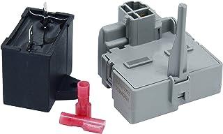 W10189190 TSD2 启动设备组合 W10662129 Homedux 压缩机运行电容器替换件 适用于惠而浦 冰箱 冷冻柜 替换零件编号 W2319792 W10197428 W2319792 241941003 系列