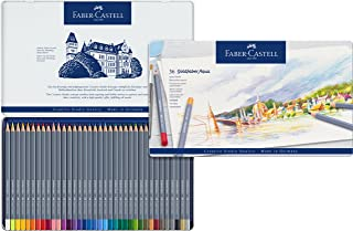 Faber-Castell 辉柏嘉 Goldfaber Aqua 水彩铅笔 金属盒装(12 支装), 36-teiliges Zinn-Set
