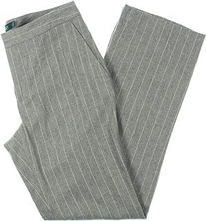 Lauren Ralph Lauren 女士 Quartilla 羊毛混纺直筒裤,灰色 12