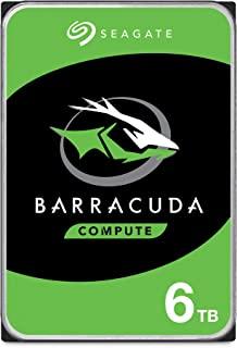 SEAGATE 希捷 BarraCuda 6TB 内置硬盘,HDD – 3.5英寸(约8.89厘米)SATA 6 Gb/s 5400 RPM 256MB高速缓存,用于台式计算机–无挫折包装(ST6000DM003)