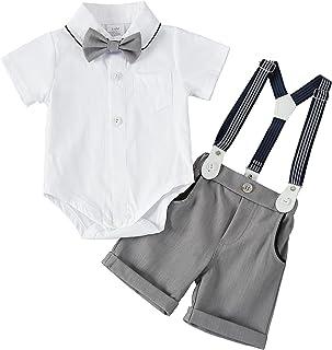 男婴新生儿正式绅士白色衬衫背心领结燕尾服套装连体服装扮服