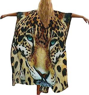 Bestyyou 女式印花和服夹克开衫长袍泳衣比基尼泳装罩衫泳衣