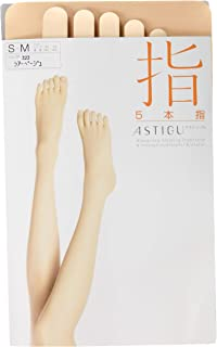 ATSUGI 厚木 【指】 5指袜 ASTIGU 女士 NEW肤米色 日本 M (日本サイズM相当)