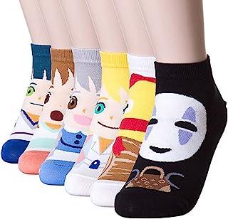 BALMOA 女袜礼品套装 - 动物猫狗艺术卡通人物有趣 - 礼品袜 - 女士圣诞节礼物
