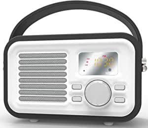 蓝牙扬声器,HotNCold 复古环绕声户外无线Boombox 扬声器,适用于 IPad、Iph、Samsung、Nexus 和其他音乐播放器