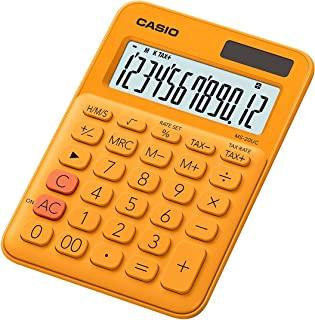 Casio 卡西欧 MS-20UC-PK 台式计算器 12 位 2.3 × 10.5 × 14.95 厘米 浅粉色 2.3 x 10.5 x 14.95 cm 橘色