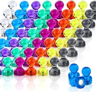 LOVIMAG 推销磁铁,64 件装 8 色冰箱磁贴,彩色实用的冰箱磁贴,非常适合白板磁贴、办公室磁贴,地图磁贴