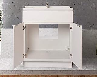 30 英寸(约 76.2 厘米)白色单板浴室梳妆台平门风格 RTA 橱柜底座 - NITURRA Moderno 系列