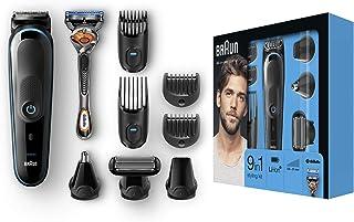 Braun 博朗 9合1多功能剃须套件 MGK5080,胡子修剪器/理发器,身体修剪器,耳鼻毛修剪器,精密修剪器,采用自动感应技术,黑色
