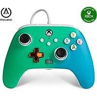 PowerA 增强有线控制器 适用于 Xbox - Seafoam 褪色、游戏手柄 有线视频游戏控制器、游戏控制器、Xb…