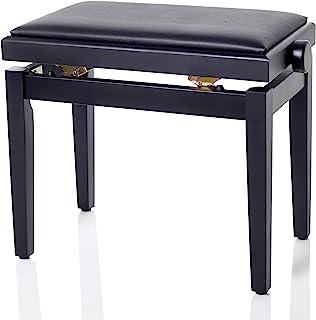 Bespeco SG101BSSN 钢琴长椅由木头制成,黑色缎面和黑色人造皮革制成