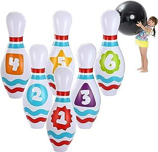 JOYIN 大型充气保龄球套装,适合儿童和成人 Get-Together 派对、游戏日活动、室内和室外派对、生日派对、办公室派对