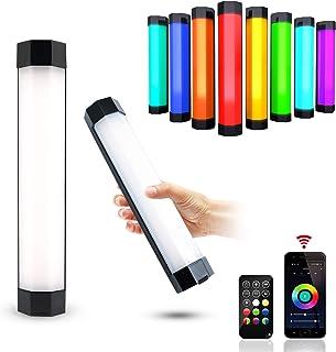 LUXCEO P200 RGB 视频灯棒,带 APP 控制 IP67 防水 LED 摄影灯,CRI≥95 内置强磁,4000mAh 电池,3000k 6000k 无级调光彩色棒(移动电源)