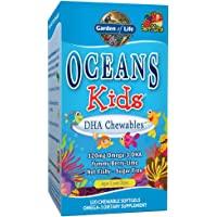 Garden of Life 生命花园 Oceans儿童DHA鱼肝油咀嚼软凝胶 浆果酸橙 Omega-3 DHA EPA…