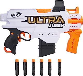 Hasbro 孩之宝 NERF 热火 Ultra Amp 电动冲击波枪,6-箭夹,6个Nerf Ultra飞镖,仅与Nerf Ultra飞镖兼容
