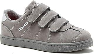 AND1 男孩/青年休闲乌鸦灰色网球鞋/运动鞋