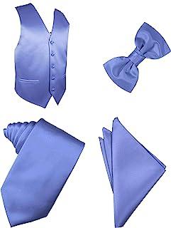 纯色背心套装 4 件套,领带,领结,手帕套装