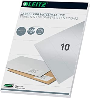 Leitz 61750001 通用型 PC Labels 105 x 57 mm 白色