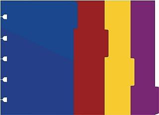 Filofax 袖珍笔记本亮色索引套装,4 个可移动索引(B122014)