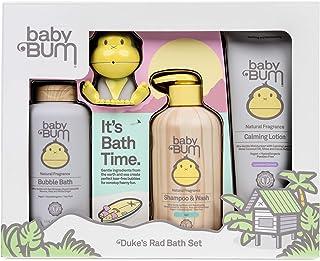 Sun Bum Baby Bum Duke's Rad浴缸必备4件套礼品套装,含滋养椰子油|原味和椰子薰衣草香味