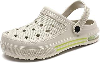 Aringa 男式花园木底鞋 家居拖鞋 室内室外气垫凉鞋 速干淋浴步行鞋 男式
