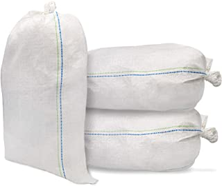 沙袋,14 X 26 空白色编织聚丙烯沙袋,防紫外线涂层,长达 1600 小时,含拉绳,防水(20 袋)