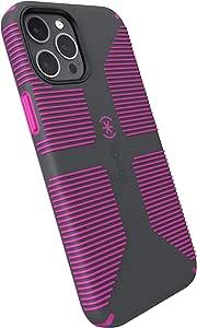 Speck 产品 CandyShell Pro Grip iPhone 12 Pro Max 手机壳,石灰色 / 这是一款振动紫罗兰色