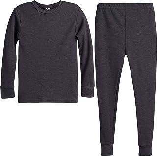 Arctic Hero 男童 2 件套保暖内衣上衣和裤子套装