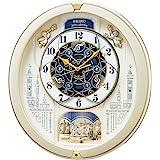 セイコー クロック 掛け時計 電波 アナログ からくり トリプルセレクション メロディ 回転飾り 薄金色 パール RE5…