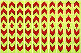 X AUTOHAUX 10 片汽车反光贴纸夜间可见性*反光胶带通用粘合剂 40 * 5CM a19041100ux0109