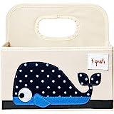 3 Sprouts 婴儿尿布盒 - 幼儿整理篮 鲸鱼色