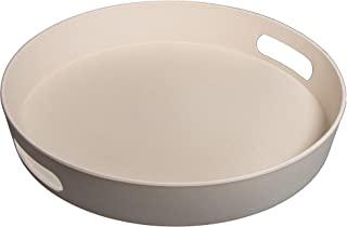 Rayher 46530000 竹托盘,30 厘米,5 厘米,白色,正常