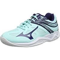 Mizuno 中性款儿童闪电星Z5 Jr 排球鞋 Blue (Blue Light/Astral Aura/White…