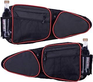 Xintre 侧门袋 适用于 RZR 带可拆卸护膝 前门侧收纳袋 适用于 Polaris RZR XP、XP4、Turbo、Turbo S、S 900、S 1000、2014-2020