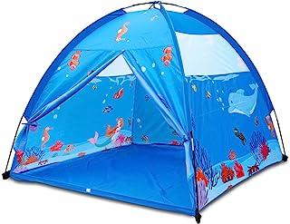 Homfu Play Tent 儿童游戏屋 男孩弹出式帐篷(蓝色)