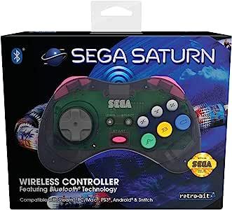 Retro-Bit 官方 SEGA Saturn 蓝牙控制垫 灰色 个人電腦/工作站