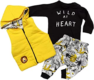 Hippil Baby 新生儿女童或男孩服装 3 件套
