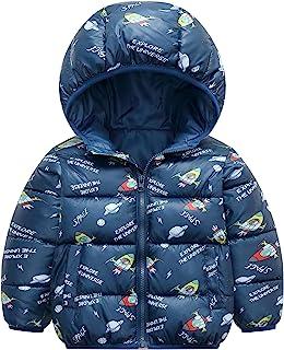 男宝宝冬季夹克棉防风保暖冬季外套可爱印花