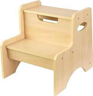 KidKraft 木制两步儿童凳,带手柄 – 天然,15.2 x 13 x 14 英寸(约 38.7 x 33.0 x 35.56 厘米),15511