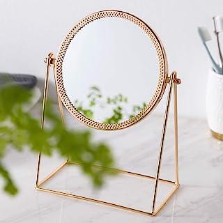 化妆镜,桌面镜 360° 旋转,装饰化妆镜,玫瑰果色 (ROSRGOLD)